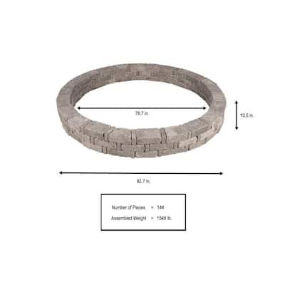 RumbleStone 93 in. x 10.5 in. Tree Ring Kit in Greystone