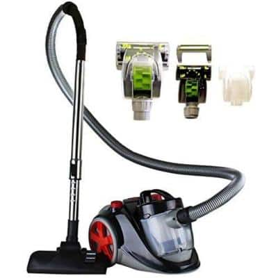 Featherlight Cyclonic Bagless Canister Vacuum Cleaner comes with Pet/Sofa Brush, Telescopic Wand