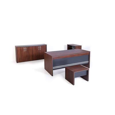 Modern Arya 71 in. Rectangular Oak/Grey with Storage 3-Drawer Computer Desk(Set of 4)