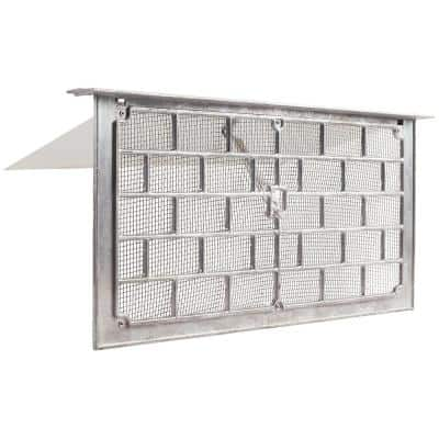Grill Style 16 in. x 8 in. Aluminum Foundation Vent with Lintel
