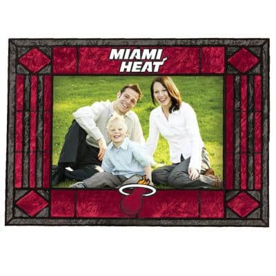 NBA -4 in. X 6 in. Gloss Multi Color Art Glass Picture Frame Heat