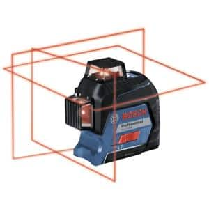 200 ft. Red 360-Degree Laser Level Self Leveling with Visimax Technology, Fine Adjustment Mount and Hard Carrying Case