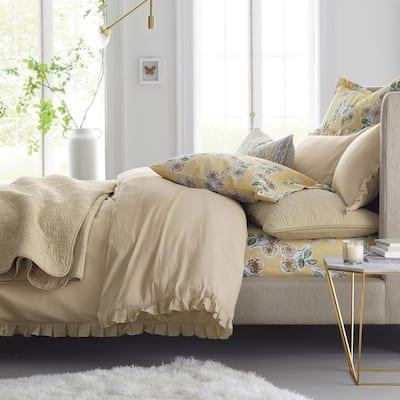 Linen Cotton Solid Duvet Cover Set