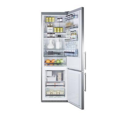 24 in. W 12.8 cu. ft. Bottom Freezer Refrigerator in Stainless Steel, Counter Depth