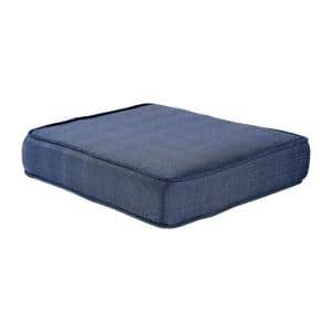Spring Haven 23.25 x 19.2 Outdoor Ottoman Cushion in Standard Blue