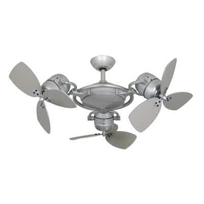 TriStar II 3 x 18 in. Brushed Nickel Triple Ceiling Fan with Remote Control