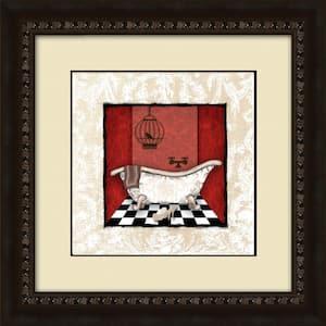 17-1/2 in. x 17-1/2 in. ''Damask Bath B'' Framed Wall Art
