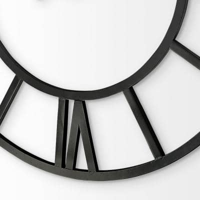 Stoke 54 in. Round Giant Oversized Industrial Wall Clock