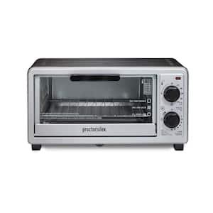 1100-Watt 4-Slice Black Toaster Oven Broiler