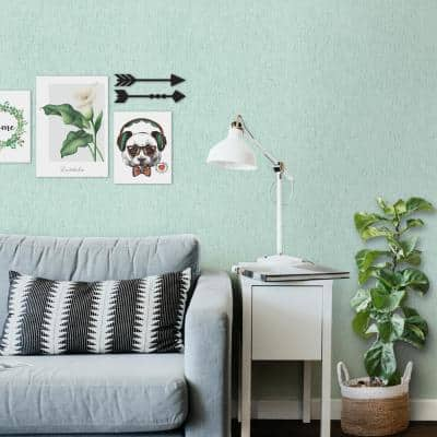Seaweed Teal/Multi Texture Vinyl Non-Woven Strippable Roll Wallpaper (Covers 59.2 sq. ft.)