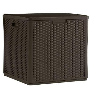 Wicker 60 Gal. Resin Storage Cube Deck Box