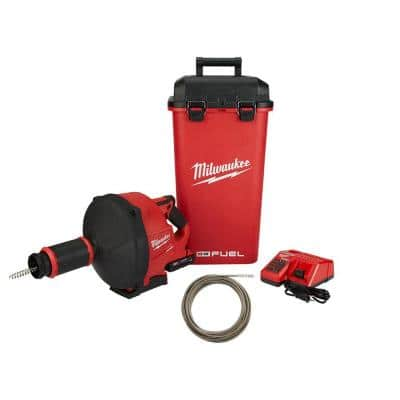 M18 FUEL 18-Volt Lithium-Ion Cordless Drain Cleaning Snake Auger w/ 5/16 in. Cable Drive Kit w/ 1/4 in x 50 ft. Cable
