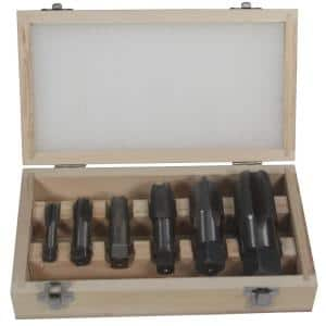 1/8 in., 1/4 in., 3/8 in., 1/2 in., 3/4 in. and 1 in. Carbon Steel NPT Pipe Tap Set (6-Piece)