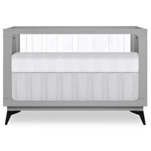 Acrylic Millennium Pebble Grey 4 in 1 Convertible Crib