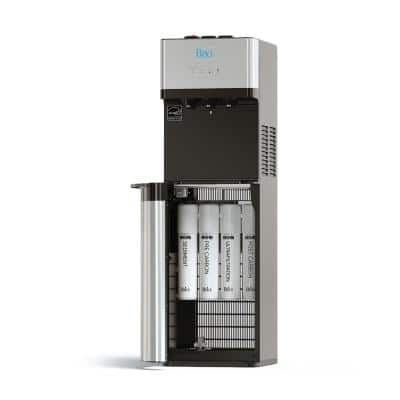 Self-Cleaning Bottleless Water Cooler Dispenser, UL/Energy, Stainless Steel, POU Water Filter, Hot, Cold and Room Temp