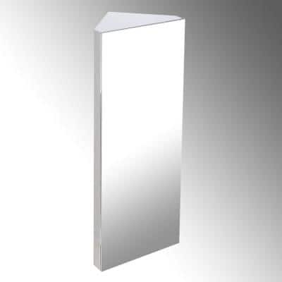 Infinity X Corner 12 in. Width x 31-1/2 in. Height Corner Stainless Steel Recessed or Surface Mount Medicine Cabinet