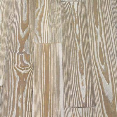 Take Home Sample - Antiqued Gray Pine Solid Hardwood Flooring - 5 in. x 7 in.