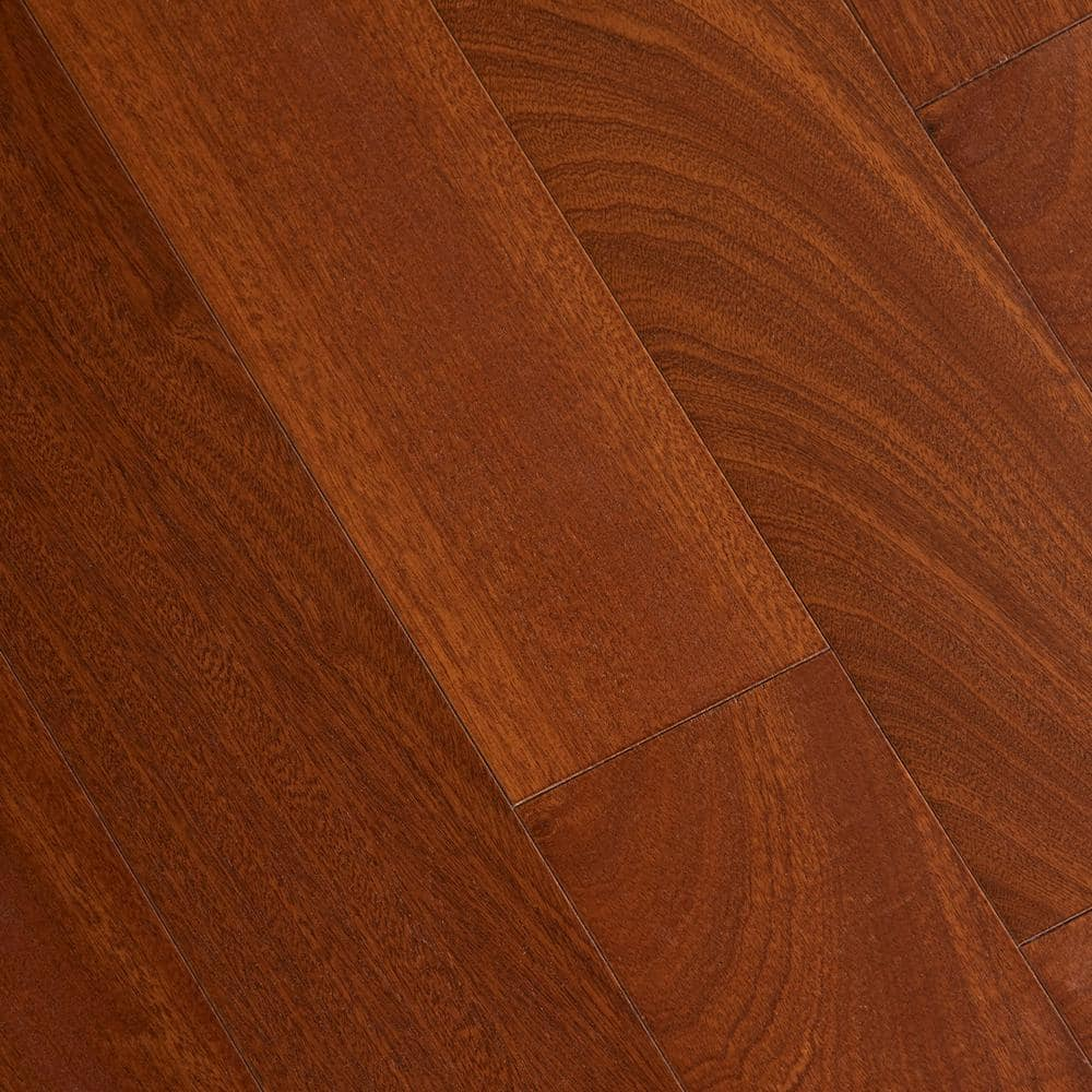 Home Legend Matte Chamois Mahogany 3 8 In Thick X 5 In Wide X Varying Length Click Lock Hardwood Flooring 19 686 Sq Ft Case Hl303h The Home Depot