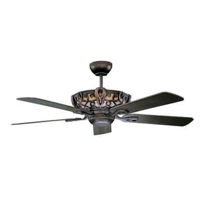 Azulla 52 in. Oil Rubbed Bronze Ceiling Fan with Light Kit and 5 Blades