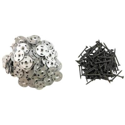 Screws and Washers (160-Pack), Use with XPS Foam Backer Board