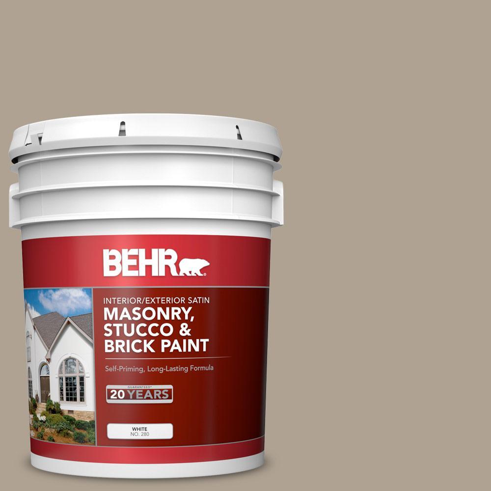 5 gal. #730D-4 Garden Wall Satin Interior/Exterior Masonry, Stucco and Brick Paint