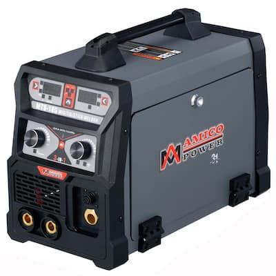 165 Amp MIG Wire Feed/Flux Core/TIG Torch/Stick Arc Welder, Weld Aluminum with 2T/4T 110-Volt/230-Volt Welding
