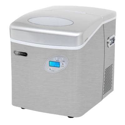 49 lb. Portable Ice Maker in Stainless Steel