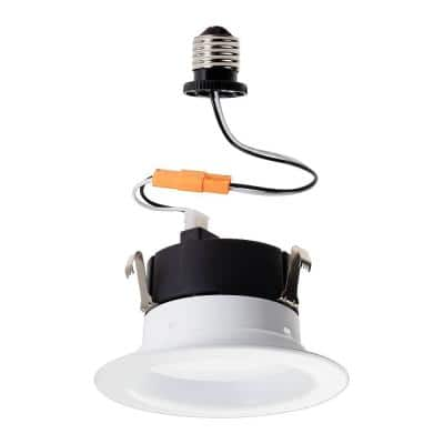 65-Watt 4 in. Soft White with Warm Glow Dimming Effect Dimmable Integrated LED Recessed Trim Retrofit Downlight (4-Pack)