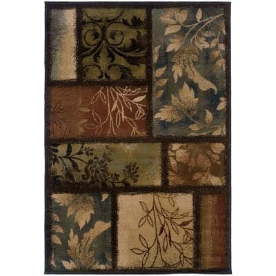 Branches Brown 8 ft. x 11 ft. Area Rug