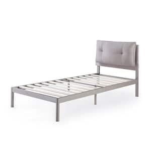 Avery Beige Twin Platform Bed with Reclining Headboard
