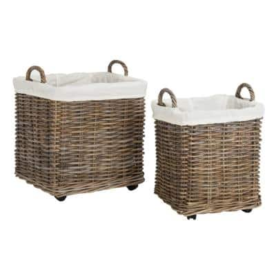 Amari Natural Laundry Hamper with Wheel