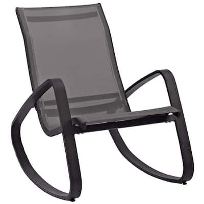 Traveler Black Rocking Sling Outdoor Lounge Chair