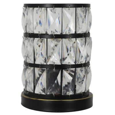 Hayes 9 in. Bronze Faceted Touch Control Uplight