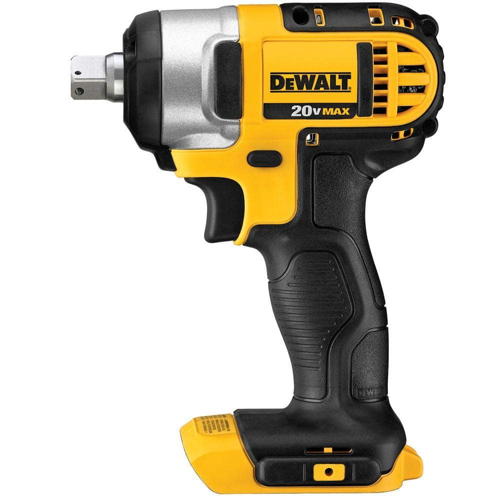 Dewalt 20 Volt Max Cordless 1 2 In Impact Wrench Kit With Detent Pin Tool Only Dcf880b The Home Depot