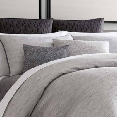 Grisaille Weave Cotton Blend Duvet Cover