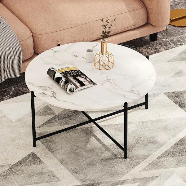 Boyel Living 36 In L Modern Round, Modern Round Coffee Tables