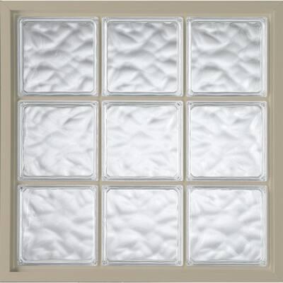 47 in. x 47 in. Acrylic Block Fixed Vinyl Window in Tan