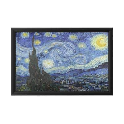 """""""Starry Night"""" by Vincent van Gogh Framed with LED Light Landscape Wall Art 16 in. x 24 in."""