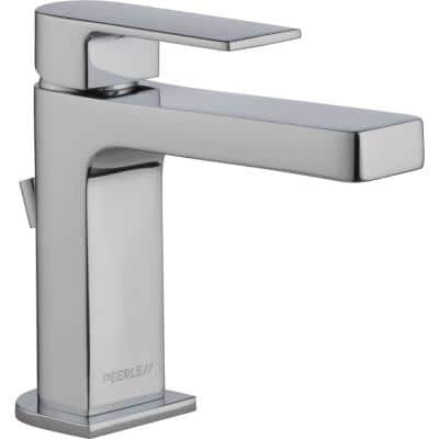 Xander Single Hole Single-Handle Bathroom Faucet with Metal Pop-Up Assembly in Chrome