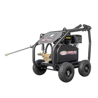 Super Pro Roll-Cage 4200 PSI at 4.0 GPM HONDA GX390 with AAA Triplex Pump Cold Water Gas Pressure Washer (49-State)