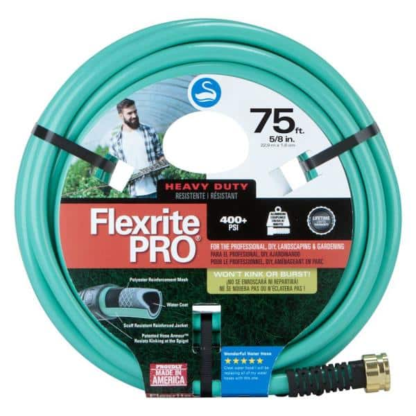 Swan Flexrite Pro 5 8 In Dia X 75 Ft Heavy Duty Water Hose Csnfxp58075 The Home Depot