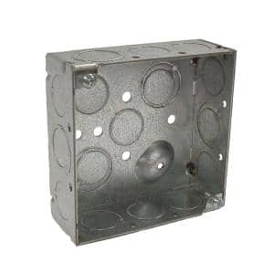 4 in. Square Box with Raised Ground