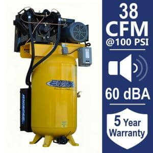 Industrial Plus 80 Gal. 10 HP 460-Volt 3-Phase Silent Electric Air Compressor