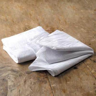 Premium 22 in. x 36 in. Soft White Flour Sack Towel (10-Pack)