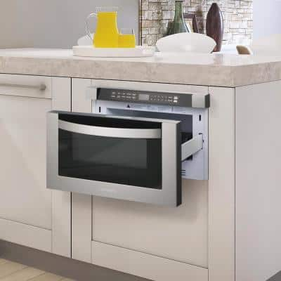 24 in. Built-In 1.2 cu. ft. Microwave Drawer with Capacity, 4 Automatic Presets and Touch Controls in Stainless Steel