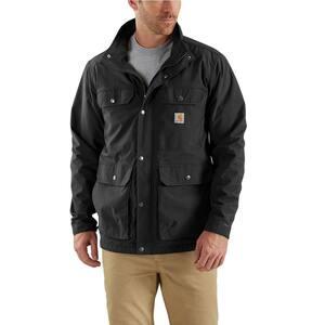 Men's Extra Large Black Nylon Utility Coat