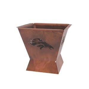 Badlands NFL 29.5 in. x 26 in. Square Steel Wood Fire Pit -Denver Broncos