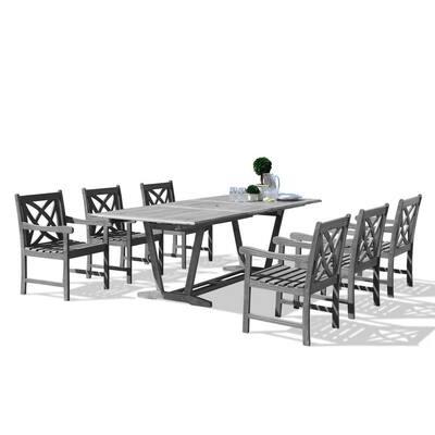 Renaissance Hardwood 7-Piece Rectangle Patio Dining Set