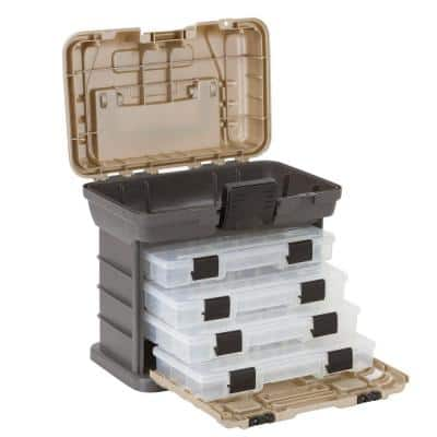 Stow 'N' Go 37-Compartment Rack with 4 Small Parts Organizer