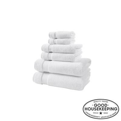 Egyptian Cotton 6-Piece Towel Set in White